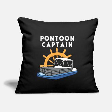 "Pontooning Pontoon Captain - Pontoon Boat - Pontooning Party - Throw Pillow Cover 18"" x 18"""