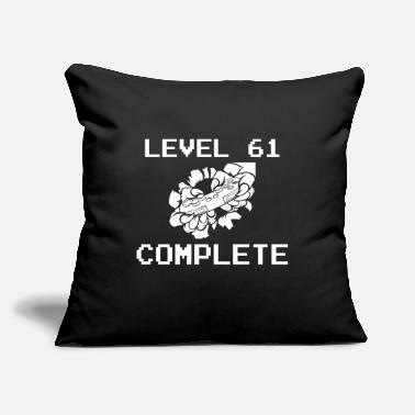 "61. Birthday Level 61 Complete 61 Birthday Gamer Gaming - Throw Pillow Cover 18"" x 18"""