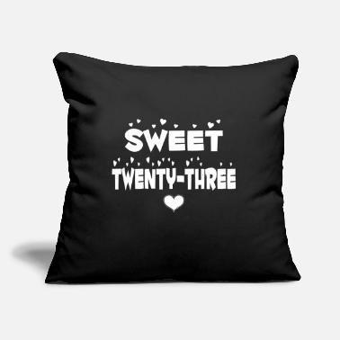 "Twenty-three Sweet Twenty Three Happy Twenty Three Birthday - Throw Pillow Cover 18"" x 18"""