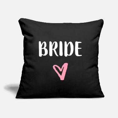 "Stag Hen Party Bride Stag party hen night bachelorette party - Throw Pillow Cover 18"" x 18"""