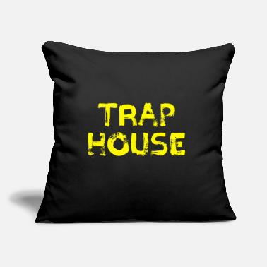 "Trap House Trap House Humor Awesome Amazing - Throw Pillow Cover 18"" x 18"""