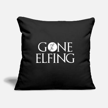 "Elf Gone Elfing Elf Christmas - Throw Pillow Cover 18"" x 18"""
