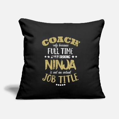 "Coach coach - Throw Pillow Cover 18"" x 18"""