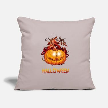 "Halloween Halloween Halloween Halloween Halloween Halloween - Throw Pillow Cover 18"" x 18"""