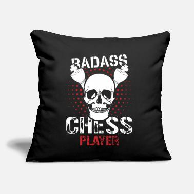 "Blatant Badass chess player - Throw Pillow Cover 18"" x 18"""