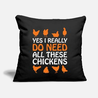 "Funny Chicken Funny Chickens - Throw Pillow Cover 18"" x 18"""