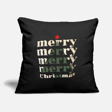 "Merry Merry merry merry merry Christmas - Throw Pillow Cover 18"" x 18"""