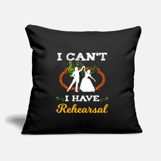 "Theatre Pillow Cases - Musical Theatre Broadway Theatre Rehearsal Gift - Throw Pillow Cover 18"" x 18"" black"