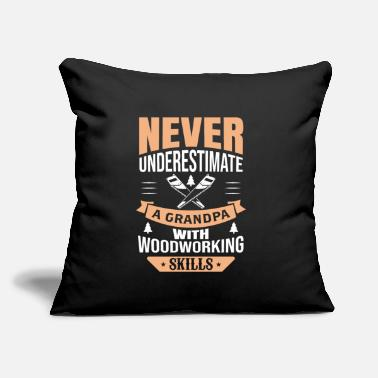 "Mens Funny Woodworking Lover Grandpa design Gift - Throw Pillow Cover 18"" x 18"""