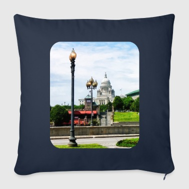 Providence RI - Capitol Building Seen from Waterpl - Throw Pillow Cover