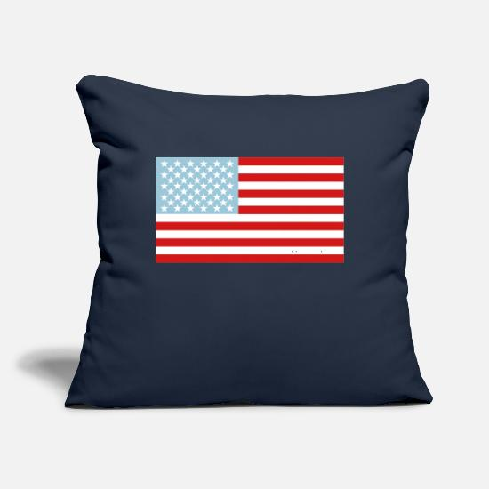 "Flag Pillow Cases - US Flag - Throw Pillow Cover 18"" x 18"" navy"
