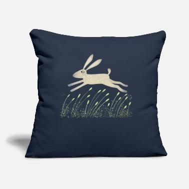 "Meadow Hare in a Meadow - Throw Pillow Cover 18"" x 18"""