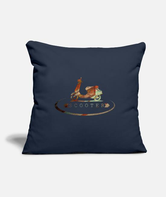 "Scooter Pillow Cases - Scooter - Throw Pillow Cover 18"" x 18"" navy"
