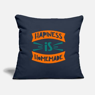 "Queens Quote - Happiness Homemade - Bright - Throw Pillow Cover 18"" x 18"""