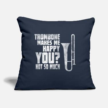 "Musician Trombone Player Shirt Marching Band Musician Gift - Throw Pillow Cover 18"" x 18"""