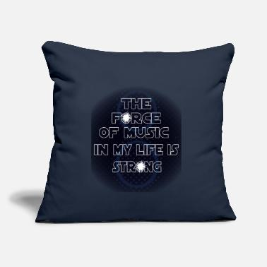 "Life Force the force of music in my life ist strong, musicbox - Throw Pillow Cover 18"" x 18"""