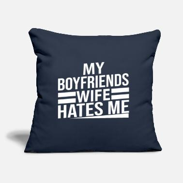 "Funny Sayings funny saying - Throw Pillow Cover 18"" x 18"""