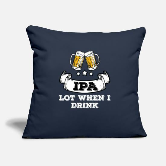 "Craft Beer Pillow Cases - IPA Lot Beer Drinker - Throw Pillow Cover 18"" x 18"" navy"