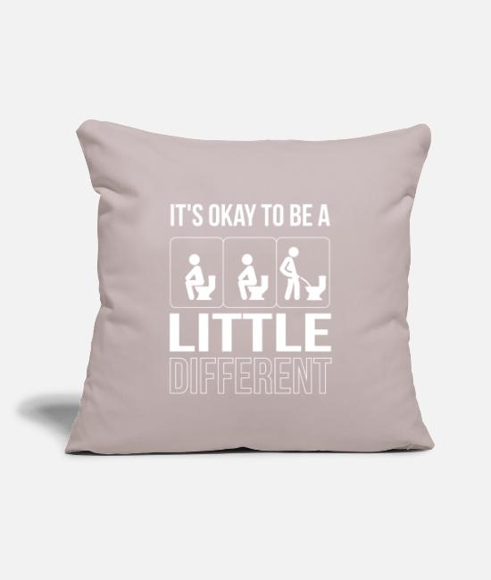 "Be Different Pillow Cases - Men Shirt Be Different Peeing Toilet Restroom - Throw Pillow Cover 18"" x 18"" light taupe"