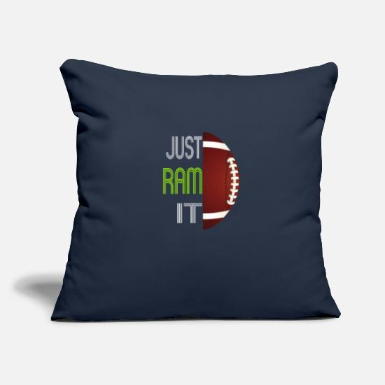 "Cool Pillow Cases - Just Ram It Funny Rams For American Football Lover - Throw Pillow Cover 18"" x 18"" navy"