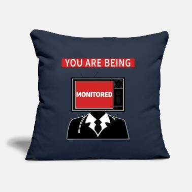 "Monitoring Monitoring - Throw Pillow Cover 18"" x 18"""