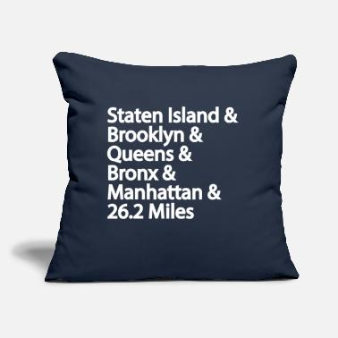 "5 Boroughs 5 Borough NYC Marathon - Throw Pillow Cover 18"" x 18"""