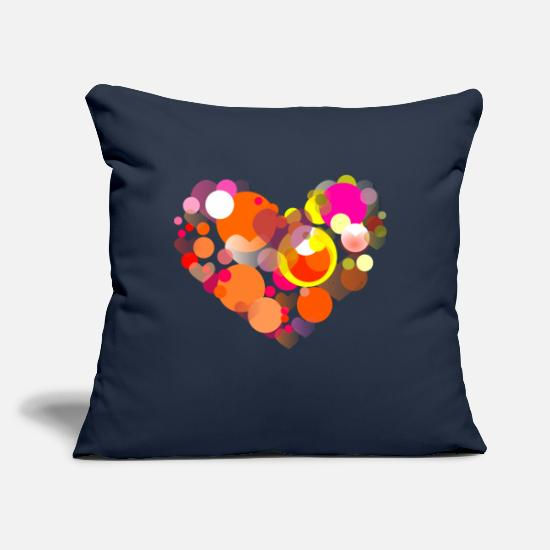 "Valentine's Day Pillow Cases - Heart-love-Valentines-Day - Throw Pillow Cover 18"" x 18"" navy"