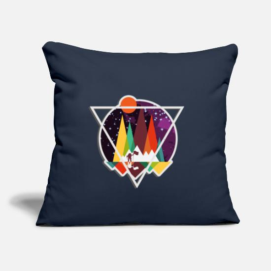 "Christmas Pillow Cases - Universe - Throw Pillow Cover 18"" x 18"" navy"