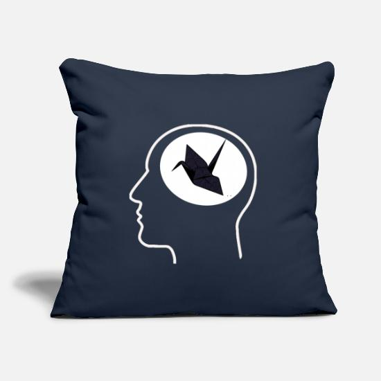 "Japan Pillow Cases - Origami - Throw Pillow Cover 18"" x 18"" navy"