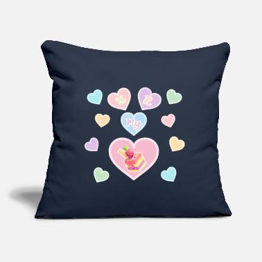 "Cover heart - Throw Pillow Cover 18"" x 18"""