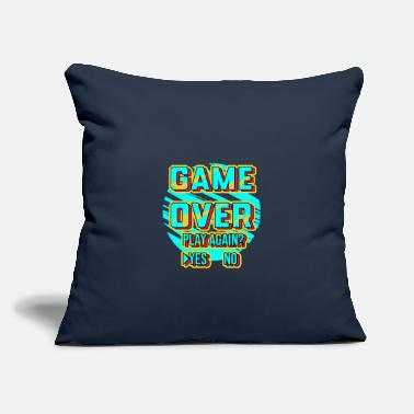 "Game Game Over Design - Throw Pillow Cover 18"" x 18"""