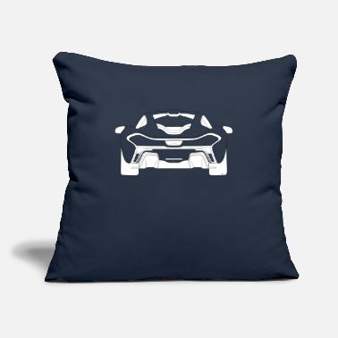 "Supercar Supercar Rear - Throw Pillow Cover 18"" x 18"""