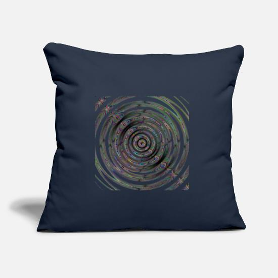 "Art Pillow Cases - Dark colors swirl - Throw Pillow Cover 18"" x 18"" navy"