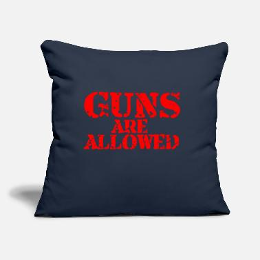 "Allowed Guns Are Allowed - Throw Pillow Cover 18"" x 18"""