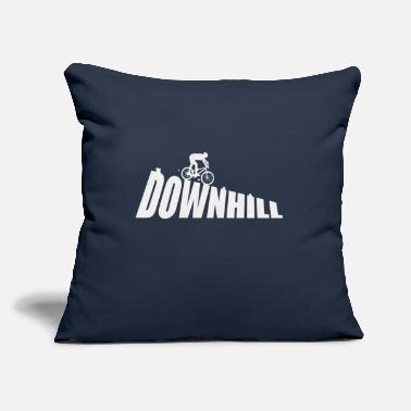 "Downhill DOWNHILL - Throw Pillow Cover 18"" x 18"""