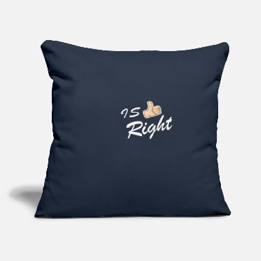 "Right IS RIGHT - Throw Pillow Cover 18"" x 18"""