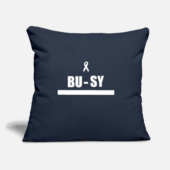 "Busy Pillow Cases - BUSY - Throw Pillow Cover 18"" x 18"" navy"