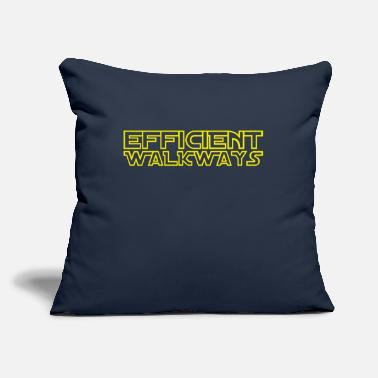 "Efficient Walkways - Throw Pillow Cover 18"" x 18"""