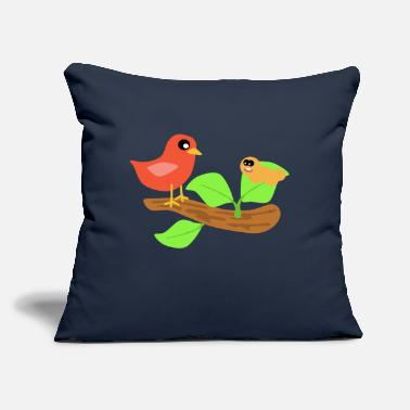 "Scene Bird Scene - Throw Pillow Cover 18"" x 18"""