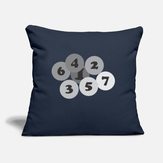 "Number Pillow Cases - Number - Throw Pillow Cover 18"" x 18"" navy"