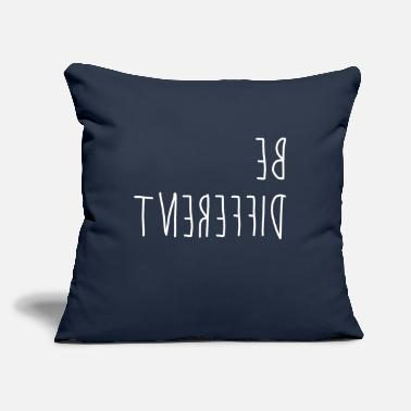 "Be Different Be different - difference - Throw Pillow Cover 18"" x 18"""