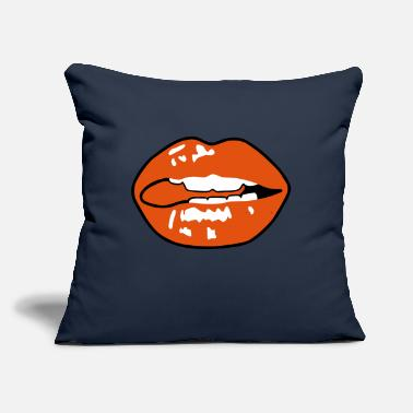 "Lingua Sexy Mouth - Throw Pillow Cover 18"" x 18"""