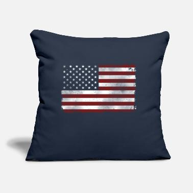 "US Flag - Throw Pillow Cover 18"" x 18"""