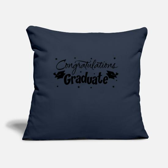 "Love Pillow Cases - 65 congratulations graduate gift party - Throw Pillow Cover 18"" x 18"" navy"