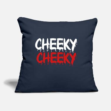 "Cheeky - Throw Pillow Cover 18"" x 18"""
