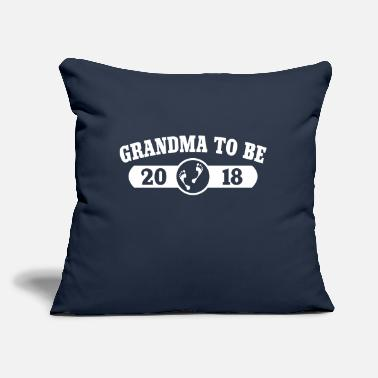 "Grandma To Be 2018 - Throw Pillow Cover 18"" x 18"""