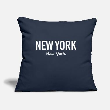 "Ny New York - USA - United States - Brooklyn - Harlem - Throw Pillow Cover 18"" x 18"""