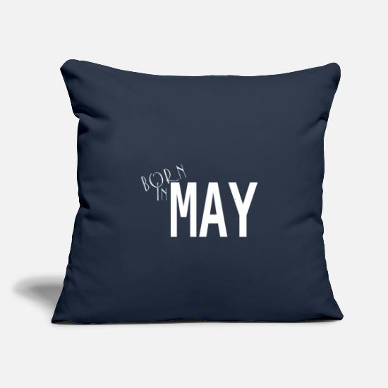 "Legend Pillow Cases - Born in May - Throw Pillow Cover 18"" x 18"" navy"