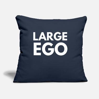 "Large large ego - Throw Pillow Cover 18"" x 18"""