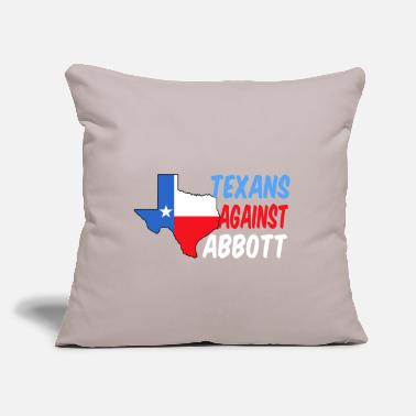 "Texans Against Greg Abbott - Throw Pillow Cover 18"" x 18"""